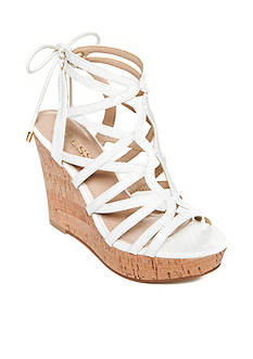 GUESS Huyana3 Cork Wedge Sandals