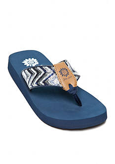 Yellow Box Pepper Sequin Flip Flop