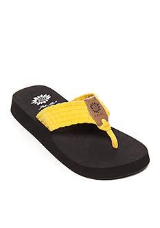 Yellow Box Soleil Woven Stretch Platform Sandals