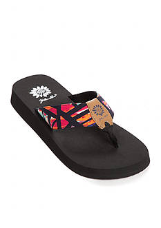 Yellow Box Abstract Geometric Print Flip Flops