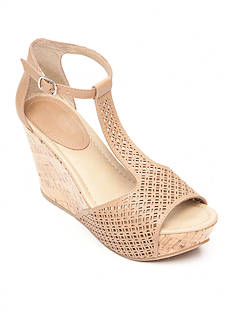 Kenneth Cole Reaction Sole Tan Wedge Sandal