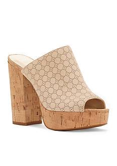 Jessica Simpson Giavanna Platform High Heel Cork Mules