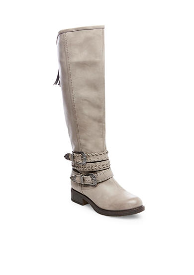 Madden Girl Braided 2 Buckle Tall Boot