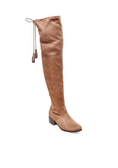 Madden Girl Prissley Over The Knee Suede Boot
