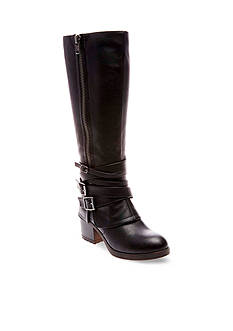 Madden Girl Rate Buckle Wrap Boot- Available in Wide Calf