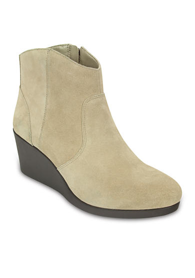 Crocs Leigh Suede Wedge Booties
