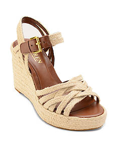 Ralph Lauren Henna Jute Wedge