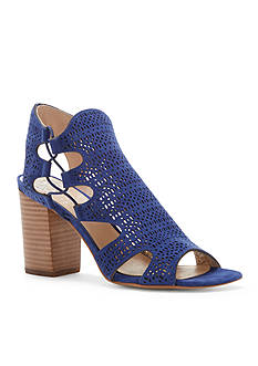 Vince Camuto Binta Perforated Stacked Heel - Available in Extended Sizes