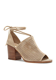 Vince Camuto Lindel Perforated Lace Up Stacked Heels