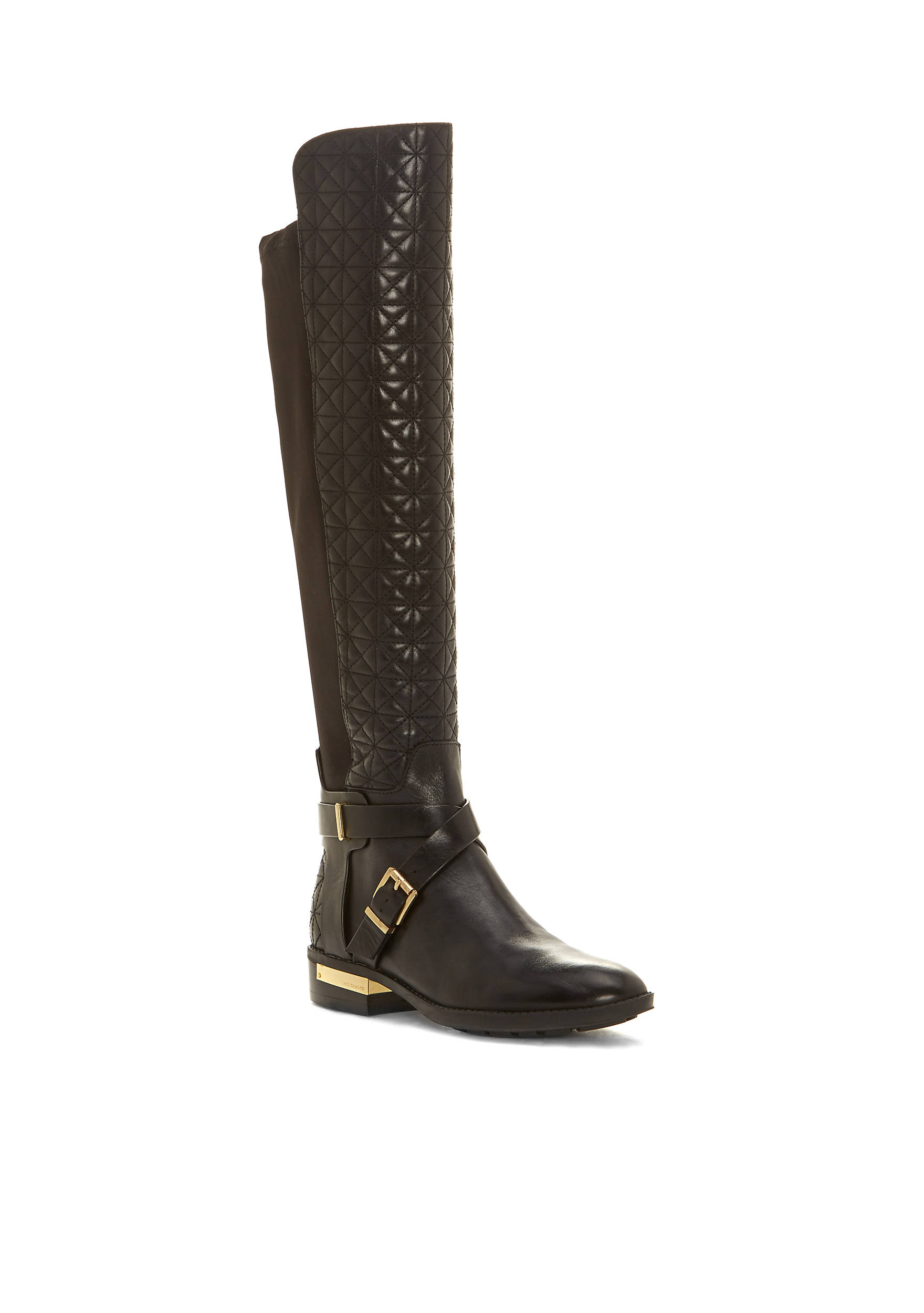Vince Camuto Patira Quilted Front Stretch Back Boot | belk : quilted back boots - Adamdwight.com