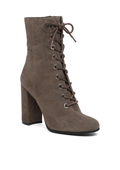 Vince Camuto Teisha Lace Up Heeled Mid Bootie