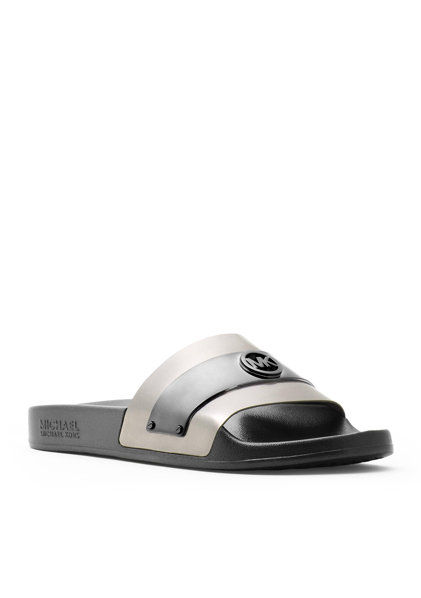 Black sandals michael kors - Images Jett Slide Sandal