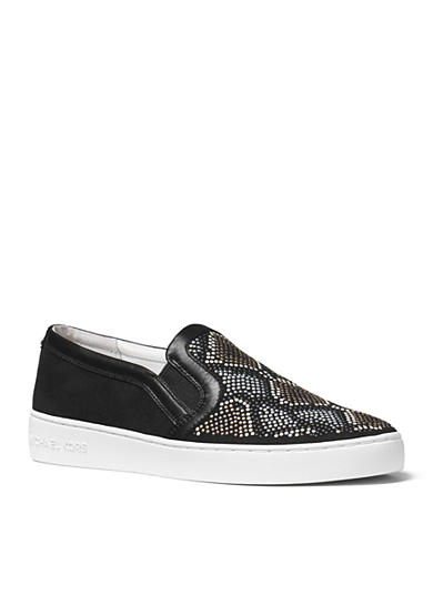 michael michael kors leo slip on sneaker belk. Black Bedroom Furniture Sets. Home Design Ideas