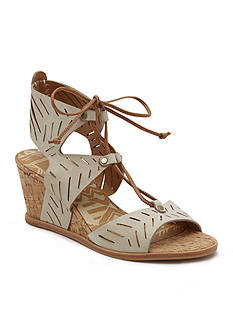 Dolce Vita Langly Tie Front Cork Wedges