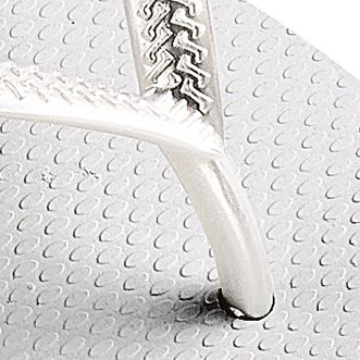 Cute Flat Sandals for Juniors: White Havaianas Slim Flip Flop