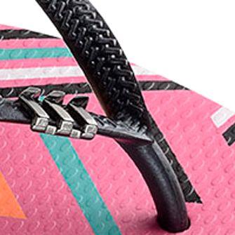 Flat Sandals for Women: Shocking   Pink Havaianas Slim Tribal Flip Flop