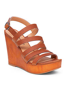 Lucky Brand Larinaa Faux Wood Wedge Sandal