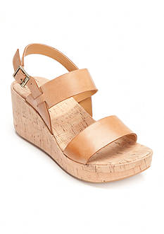 Korks Tome Cork Sling Back Wedge