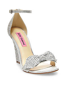 Betsey Johnson Delancyy Bow Wedge Sandal