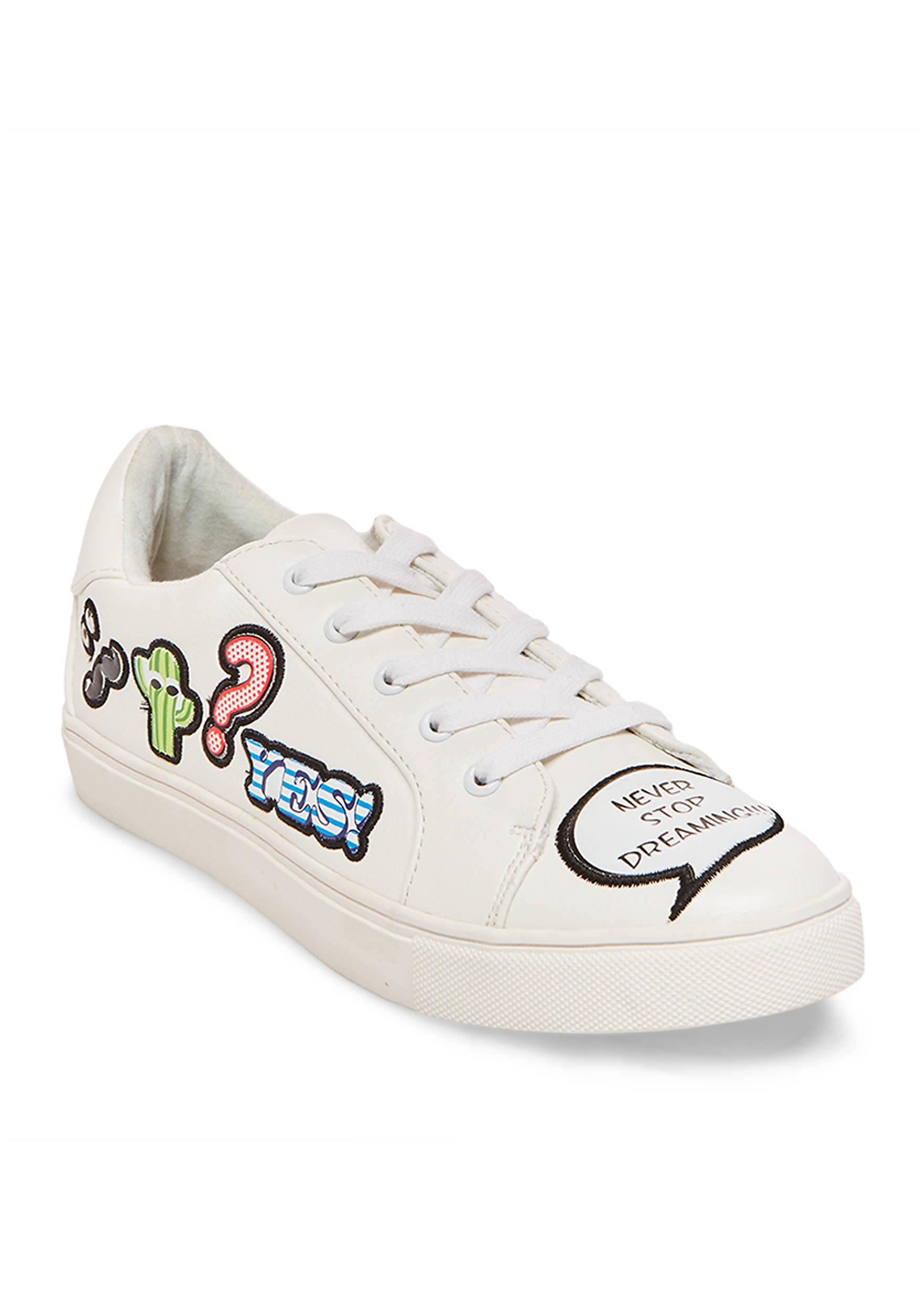 Betsey Johnson Goly Patch Lace Up Sneaker