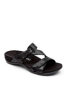 Orthaheel Lauren Two Strap Slide - Available in Extended Sizes
