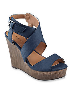 indigo rd. Criss Cross Covered Wedge