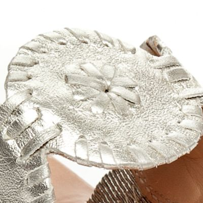Shoes: Jack Rogers Women's: Platinum Jack Rogers Lauren Slide Sandals