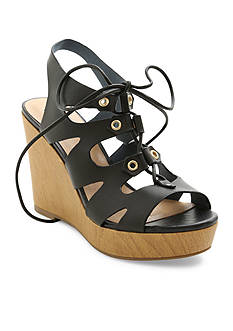 XOXO Lace Up Wedge Sandals