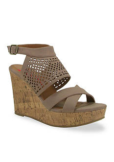 Jellypop Bettie Perforated Wedge Sandal
