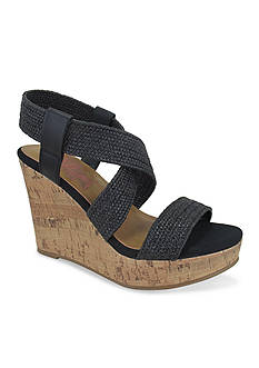 Jellypop Makenna Woven Cork Wedge Sandals