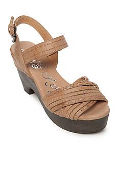 Naughty Monkey Calla Heeled Wedge Sandals