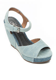 Naughty Monkey Block Party Denim Wedge Sandal