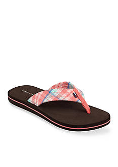 Tommy Hilfiger® Conica Plaid Flip Flop