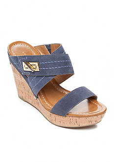 Tommy Hilfiger Mili Cork Wedge Sandal