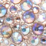 Trendy Shoes: Sparkle & Shine: Gold Multi Lauren Lorraine Paula 3 Peep Toe Heel