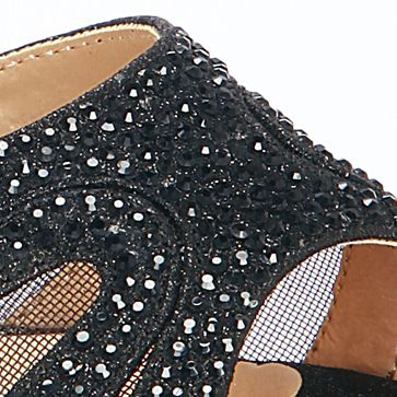 Junior Prom Shoes: Black Lauren Lorraine Vinnie Sandal