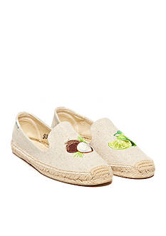 SOLUDOS Lime Coco Espadrille Flat