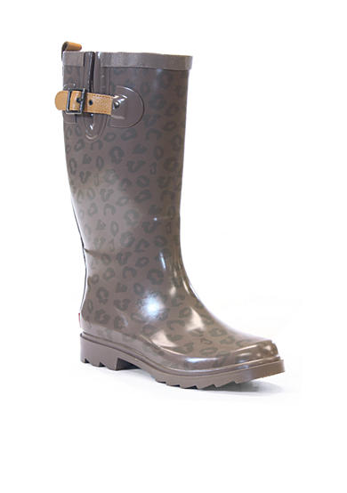 CHOOKA Top Solid Leopard Rainboot