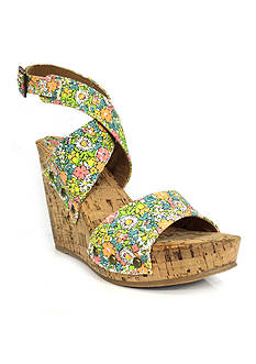 Groove Footwear Ariana Strapped Cork Wedge