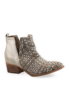 Diba True Struck Gold Woven Cutout Booties