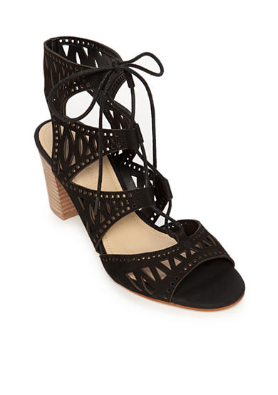 Marc Fisher Petite Cutout Stacked Heel