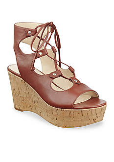 Marc Fisher Smarty Lace Up Wedge Sandal