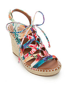 Sugar Hula Lace Up Espadrilles Wedge