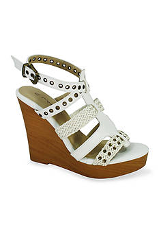 C. Label Baldwin Wedge Sandal