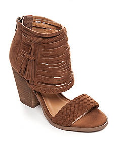 not rated Rosella Tassle Woven Block Heel Sandal
