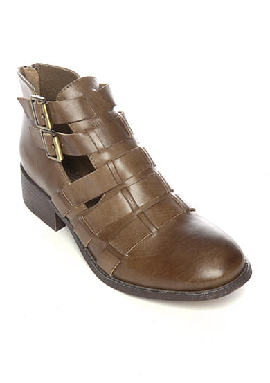 Antelope Woven Double Buckle Bootie