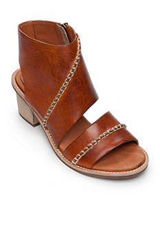 Antelope Stitched Wrap Stacked Heel