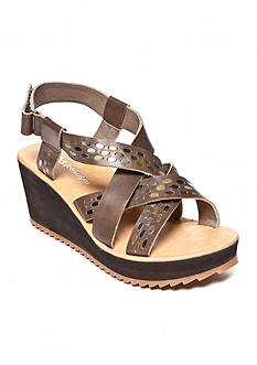 Antelope Low Dark Criss Cross Wedge Sandal