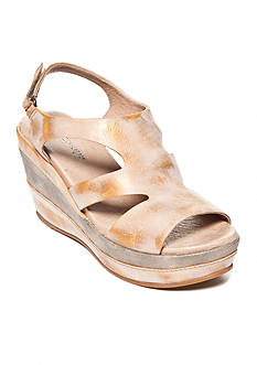 Antelope Side Cut Met Wedge Sandals