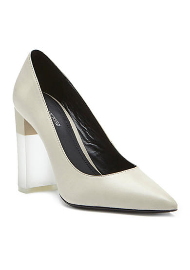 Pour La Victoire Chunky Heel Pump with Lucite